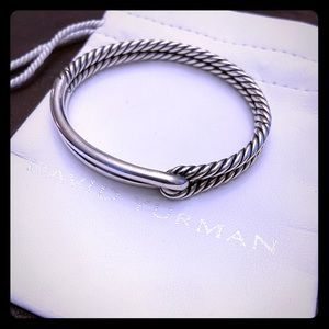 David Yurman Silver Loop Bracelet Labyrinth
